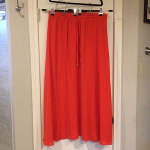 Worthington - Long Orange Maxi Skirt - Size XL